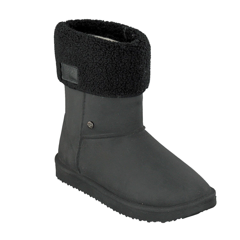 Grosch chaussures Sylt-femmes bottes en Caoutchouc 7118-602-9 Imperméable Doubleure noir