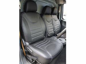 Similicuir 650g Peugeot Expert 2007-2016, housses de siège van, jeu complet 2 rouge, bleu