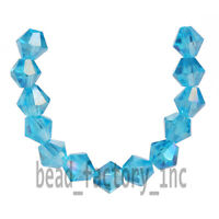 Bulk 4mm 100pcs Faceted Crystal Glass 5301# Bicone Loose Spacer Beads 70 Colors