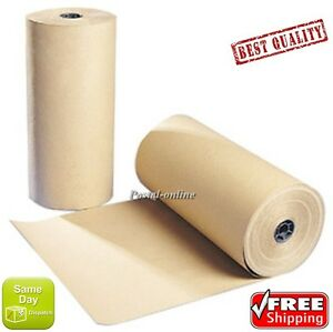 25m x 750mm STRONG BROWN KRAFT WRAPPING PAPER 88gsm roll heavy