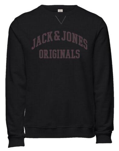 JACK /& JONES New Men's Crew Neck Patch Sweatshirt Char Casual Sweat Top Jumper