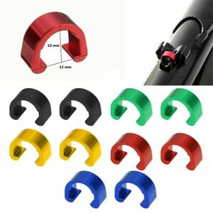 10Pcs Bike-Cycle-Bicycle C-Clip Cable Housing Hose Guide Ties Tidy Frame Buckle