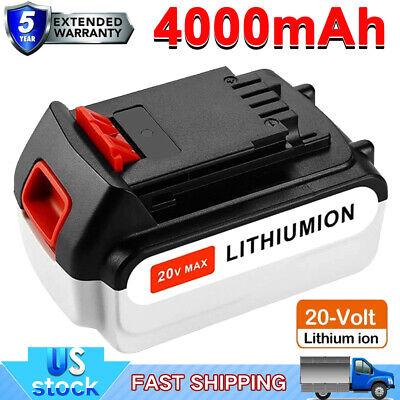 20V 4,0AH MAX Matrix Li-Ion Akku für Black /& Decker LBXR20 LCS1620 LBX20 LB20 DE