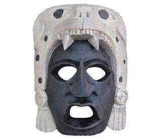 Aztec Maya Artifact Warrior Mask Jaguar Sculpture Statue 10 Wall