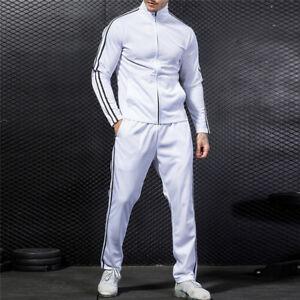 Men-Sport-Coat-Tracksuit-Jogging-Top-Bottom-Athletic-Sweat-Suit-Trousers-Pants