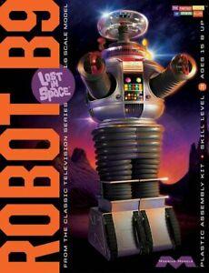 Lost-IN-Space-1-6-Robot-B9-Maqueta-de-Plastico-en-Kit-Abierto-Caja-Oferta-MM939