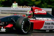 Eric Van De Poele Fondmetal GR02 Hungarian Grand Prix 1992 Photograph