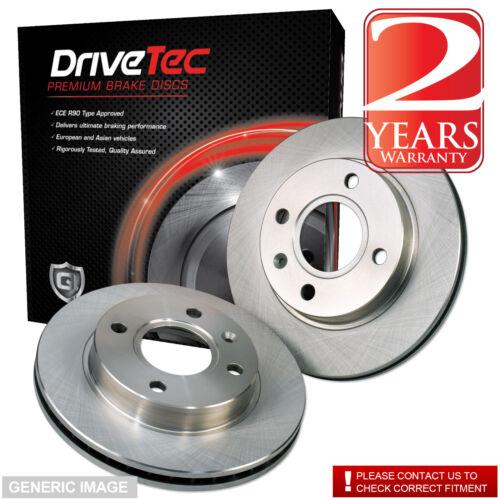 Front Drivetec Brake Discs 326mm Vented Jaguar XJ 6 2.7 D 3.0 3.0 AWD 6 3.0