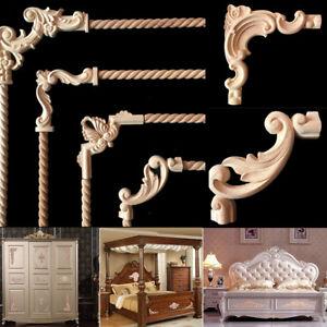 Image Is Loading Rubber Wood Carved Corner Onlay Lique Frame Decor