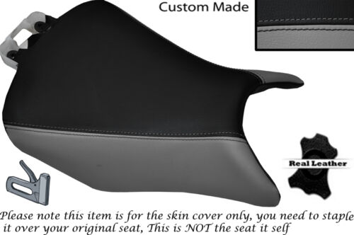 GREY & BLACK CUSTOM FITS HONDA CBR 500 R 13-15 FRONT LEATHER SEAT COVER