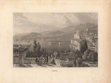 c1850 Genua Genova Italien Italia Ligurien Vedute Stahlstich-Ansicht