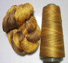 100% Pure Mulberry Queen Silk Yarn 50 gram 3 Ply Lace Weight Lichen QS 07 Lot C