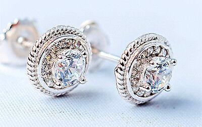 925 Sterling Silver Jewellery Lab Created Diamond Man/women Stud Earrings