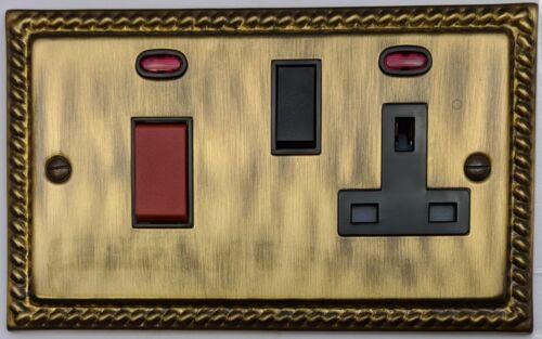 Monarque avec antique bronze couvrir les interrupteurs cuisinière plug sockets gradateurs