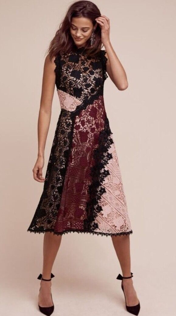 NWT Anthropologie Nanette Lepore Opera Lace Dress - Size 6