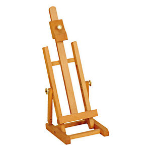 ARTIST-TABLE-TOP-EASEL-34cm-ADJUSTABLE-WOODEN-BEECH-FOR-DISPLAY-amp-PAINTING-B34