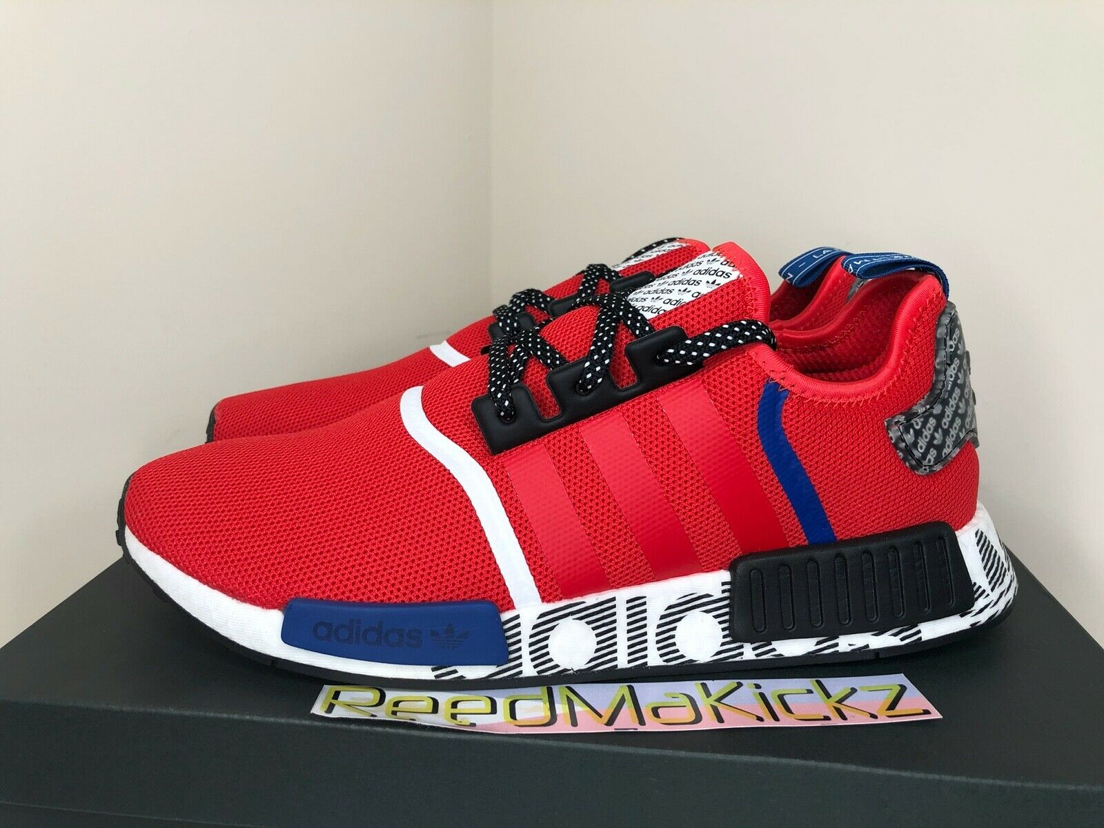 Size 11 - adidas NMD R1 Active Red Black