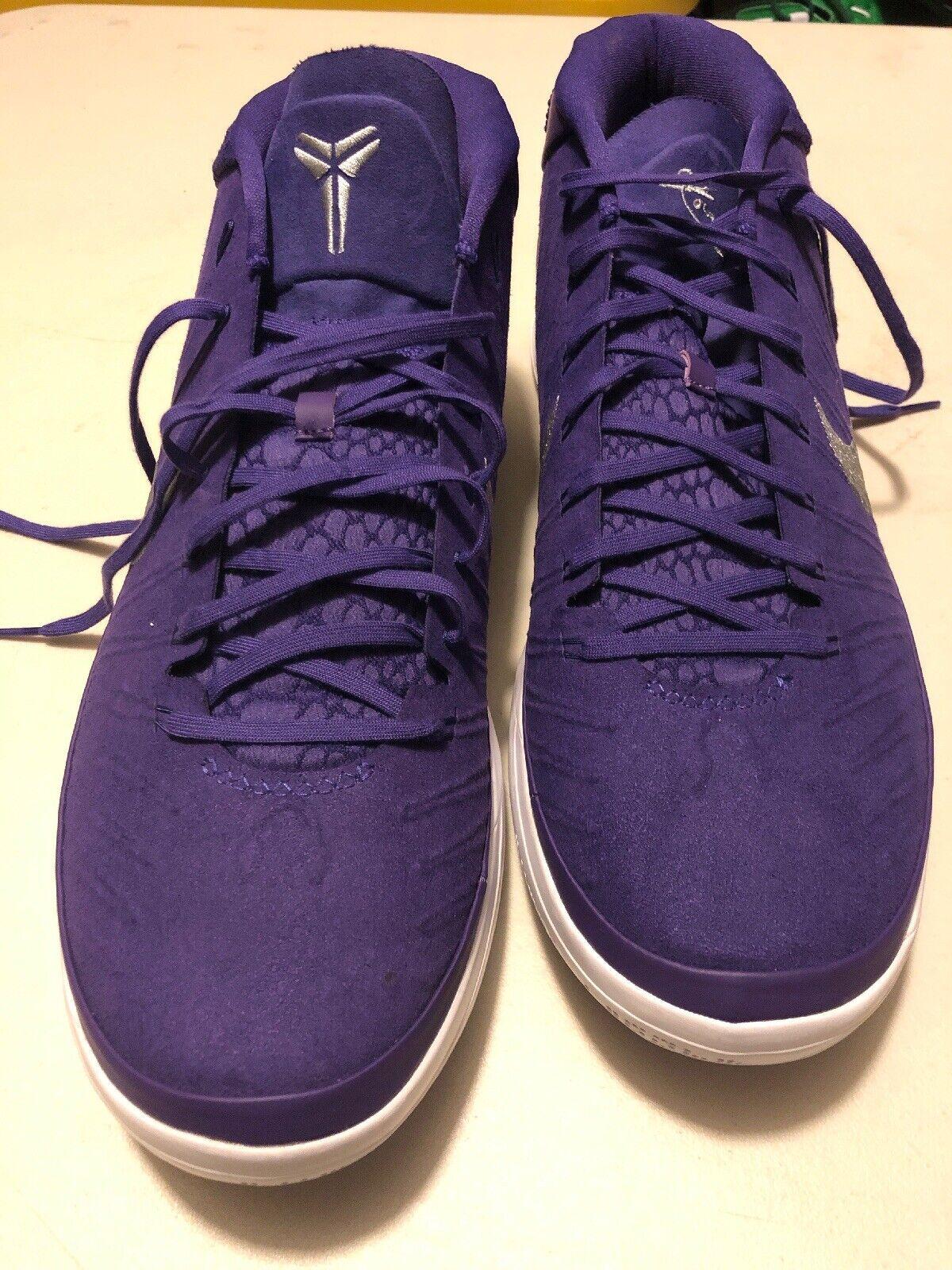 Nike Kobe AD TB Promo 942521-502 Men Size 17 Court Purple Lakers Silver