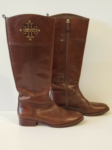 Almond Brown Wide Calf Riding BOOTS