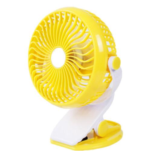 360° Portable Travel Fan Rechargeable USB Clip On Mini Desk Home Cot Car Fan