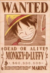 One Piece - Luffy Wooden Wanted Poster (Color)