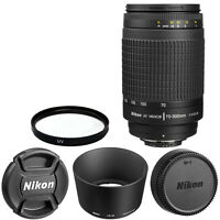 Nikon Af Zoom Nikkor 70-300mm F/4-5.6g Lens + For Dslr Cameras Brand In Box
