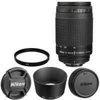 Nikon Af Zoom Nikkor 70-300mm F/4-5.6g Lens + For Dslr Cameras Brand In Box on sale