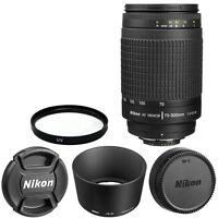 Nikon Af Zoom Nikkor 70-300mm F/4-5.6g Lens + For Dslr Cameras Brand In Box