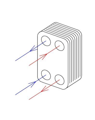 20 plates Brazed Plate Heat Exchanger BL26-20