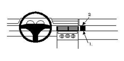 100% Kwaliteit Brodit Proclip 852123 Montagekonsole Für Fiat Tipo Baujahr 1992 - 1995