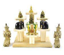 Nice SET of 7 mini Altar Tables worship Thai Buddha Buddhist amulet strong Wood