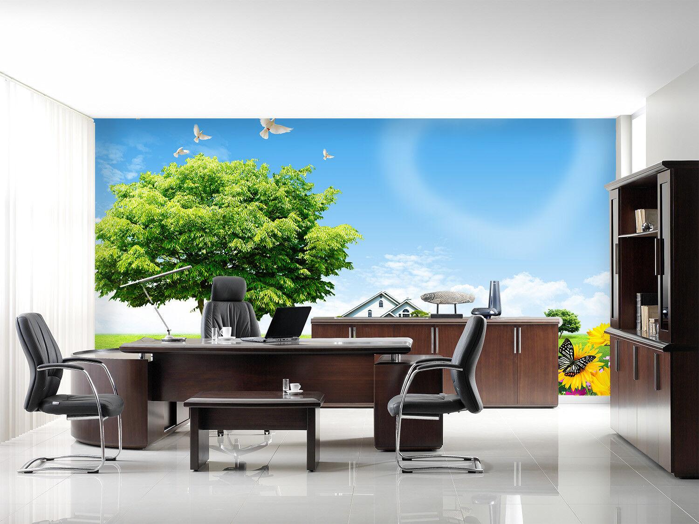 3D Flower Tree Hut 84 Wall Paper Murals Wall Print Wall Wallpaper Mural AU Kyra