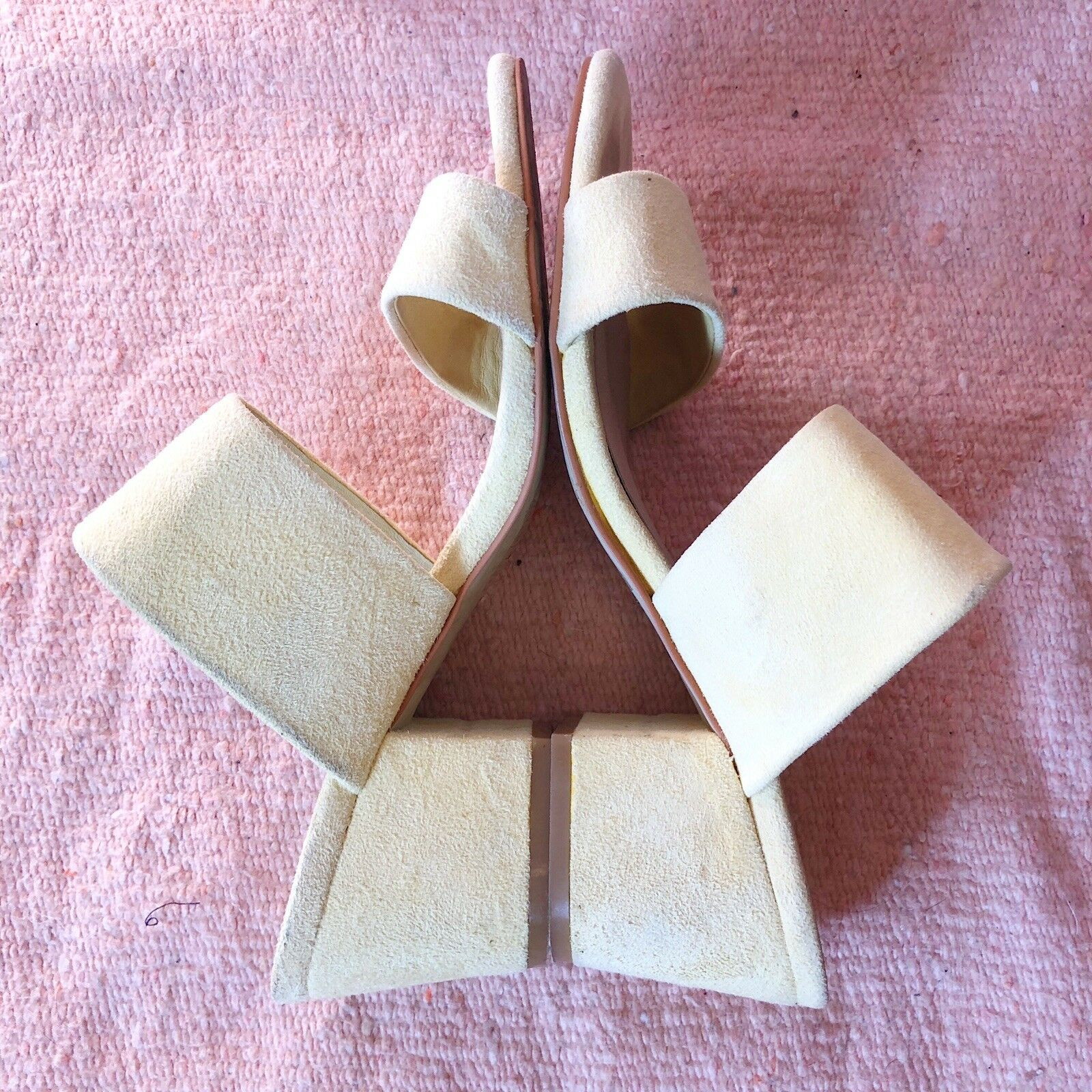 Sol Sana Butter Yellow Suede Mules - image 3