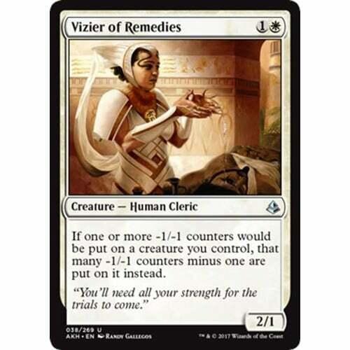 MTG AMONKHET Vizier of Remedies