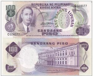 Pick 164a UNC PHILIPPINES 100 Piso 1970