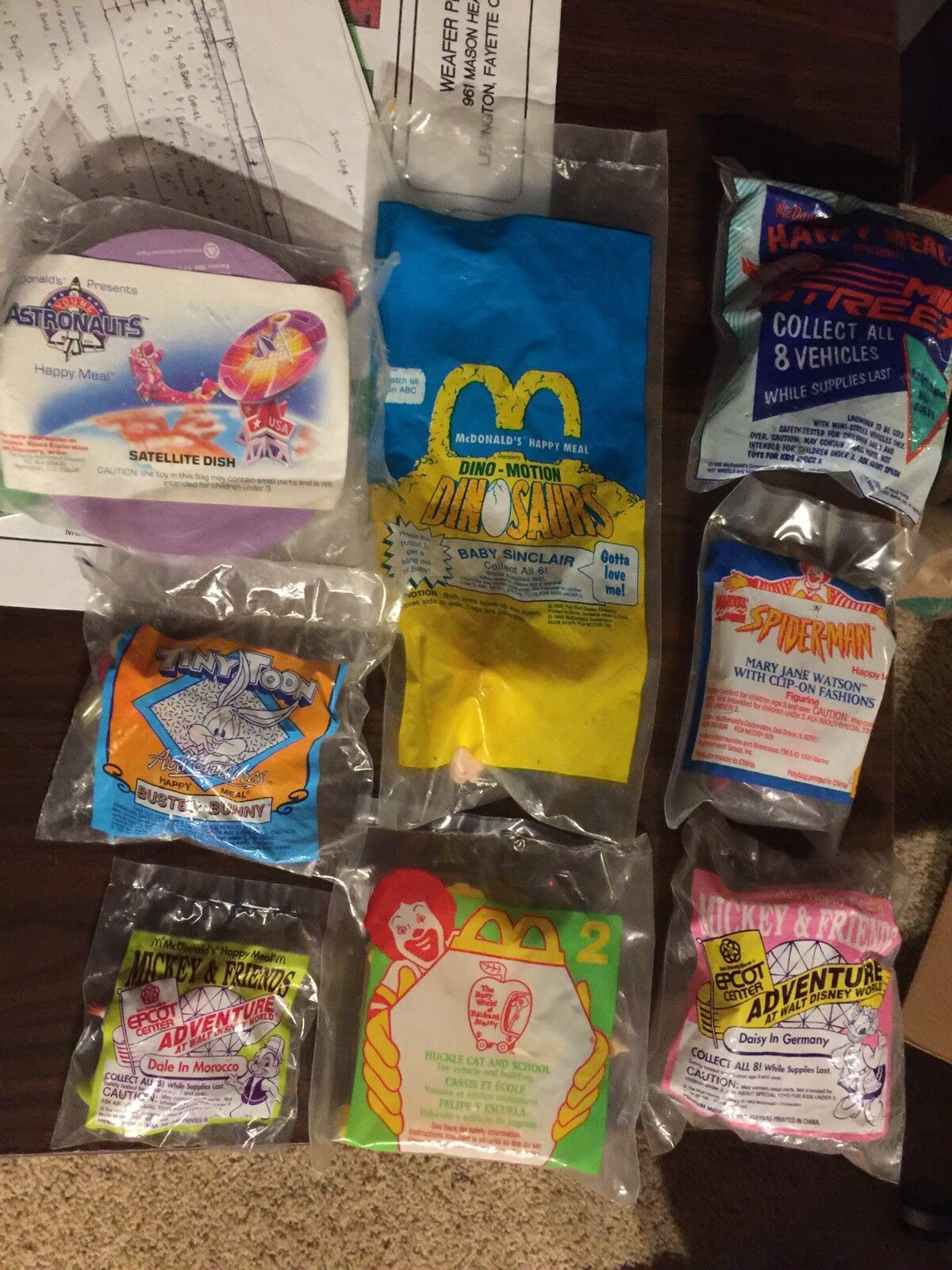 McDonalds Happy Meal Toys 90's