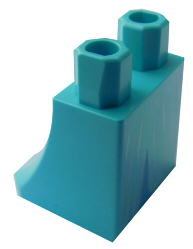 Lego Rock azurblau medium azure für Minifigur 36036pb12 Beine Elsa Neu