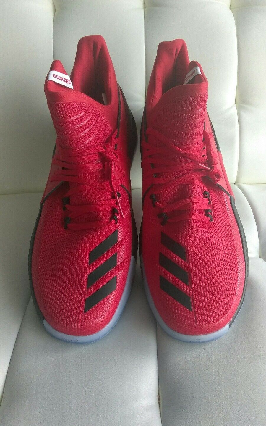 New Men's ADIDAS D LILLARD 3 Huskers - BY3328 - Nebraska Huskers 3 NCAA Sz 18 Free Ship 4209c8