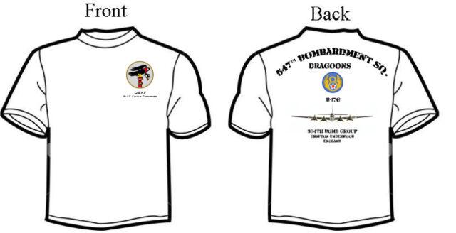 Squadron T-Shirt 384th BG Long or Short Sleeve B-17G 547th Bombardment Group