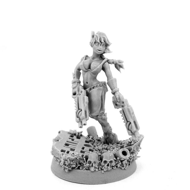 28mm scale G-GOOD WIDOW OF VENGEANCE WITH GUNS