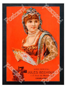 Historic-Jules-Bechoux-Sewing-Machines-1910-Advertising-Postcard