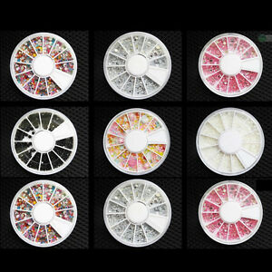 3D-Nail-Art-Rhinestones-Glitters-Acrylic-Tips-Decoration-Manicure-Wheel-New-Hot