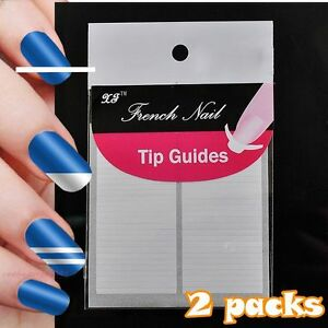 Nail art french tips nails guard sticky diy guide sticker straight image is loading nail art french tips nails guard sticky diy prinsesfo Choice Image