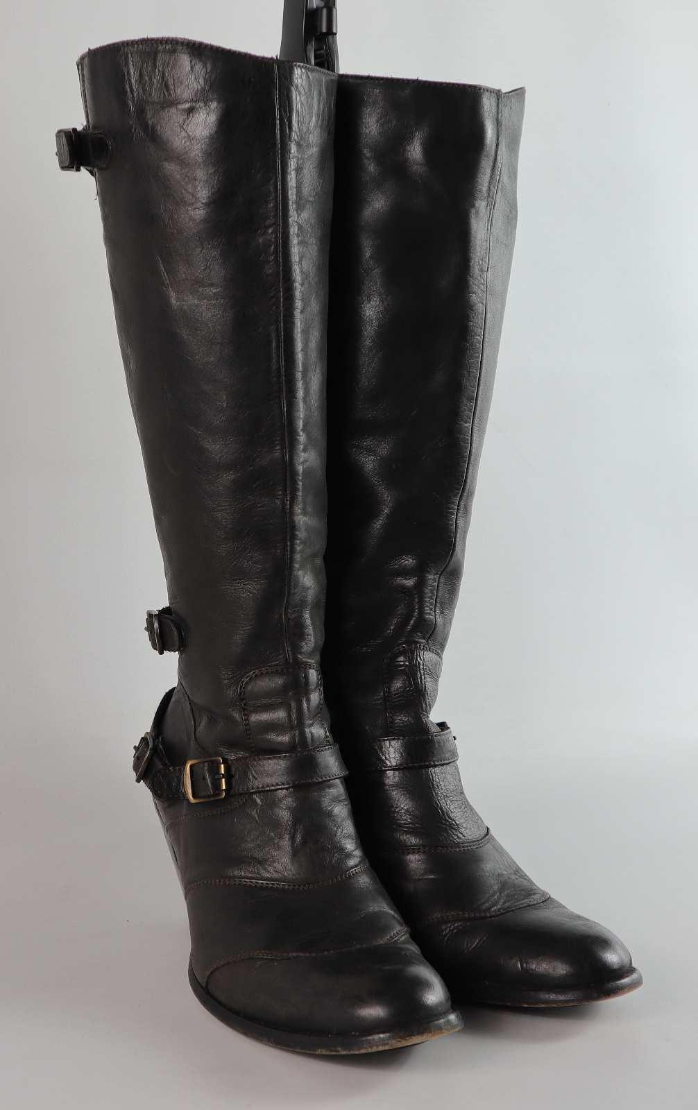 BELSTAFF TRIALMASTER Femme EU Taille 41 en cuir cuir cuir Noir Genou-Bottes hautes fe49fc