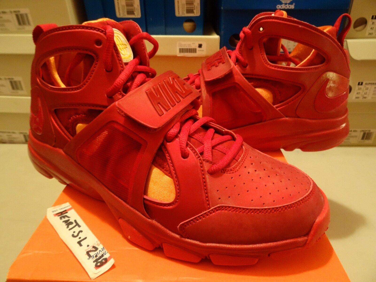 NEW Nike AIR MAX Zoom Huarache TR Mid Flash Varsity Red orange 414975 601 SZ 13