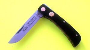 Couteau de poche pliant en couleur noire «Carl Schlieper» de Solingen