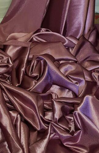 Polvoriento Rosa Brillante posterior Satinado Tela Crepe 58 pulgadas de ancho Medidor rollos de cuarto gordo