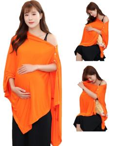 Orange Nursing Cover Poncho For Breastfeeding Nursing Shawl Cover Ups Maternity Ebay