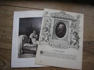 Florent Willems Cliché Photoglyptie De Galerie Contemporaine 1880 Forte RéSistance à La Chaleur Et à L'Usure