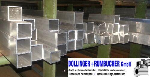 Vierkantrohr Alu Rohr 45 x 45 x 2 mm Vierkant Aluminium Aluminiumrohr